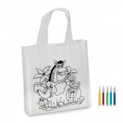 Mini borsa shopper da colorare